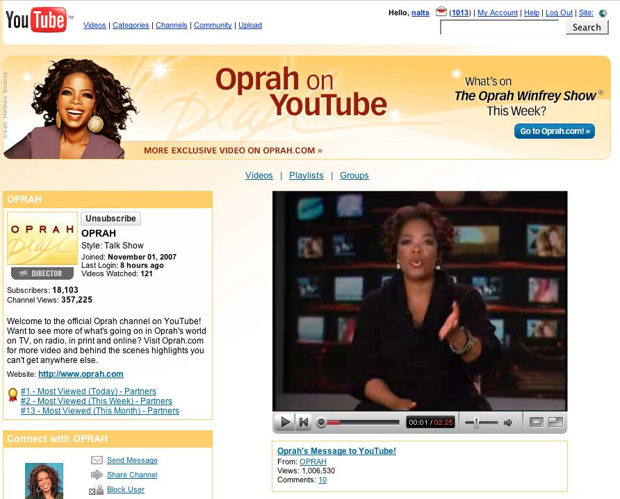 oprah youtube