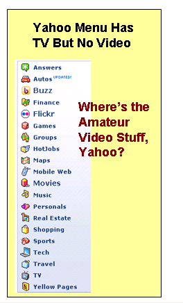 Yahoo Menu No Amateur Video