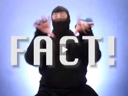 ask a ninja fact picture whistle goes hooooo