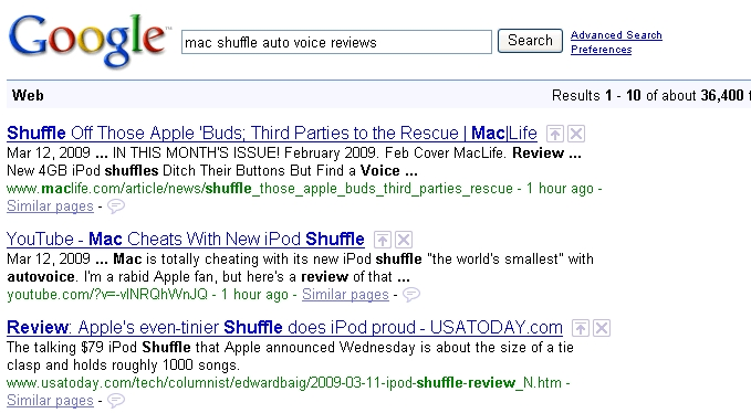 mac shuffle autovoice review