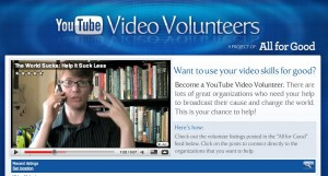 vlog brothers promote video volunteers on youtube