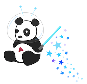 cosmic panda logo picture drawing image