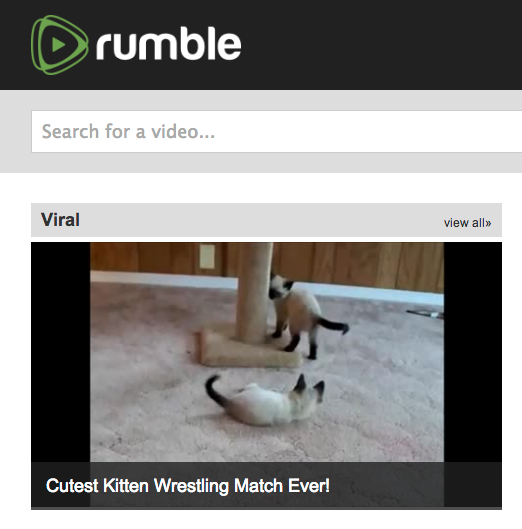 Rumble because the world needs another video sharing site for cats